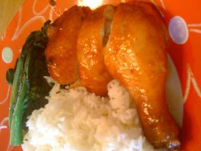 Recipe Baked chicken leg with hoisin & char siew sauce