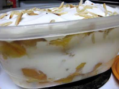 Recipe Ginger, peach, and toasted almond trifle