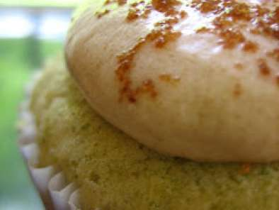 Recipe Green mung bean cupcakes with palm sugar buttercream frosting