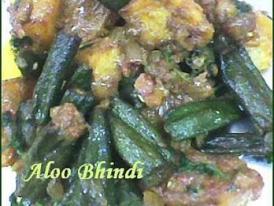 Recipe Aloo bhindi recipe | authentic recipe for aloo bhindi - fried aloo bhindi