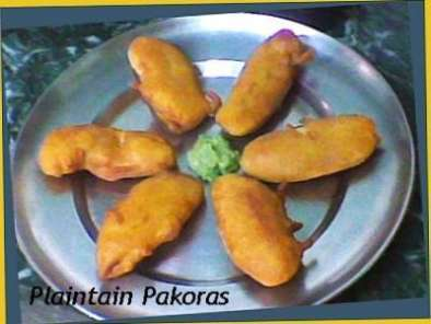 Recipe Raw banana-plaintain pakoras-bhajiya recipe