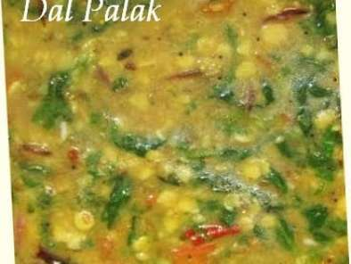Recipe Dal palak recipe - spinach with arhar dal