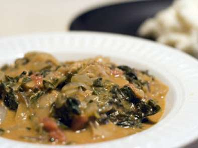 Recipe Spicy west african style greens & peanut stew with fufu