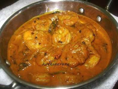 Recipe Chemmeen thenga pal curry/prawns coconut milk curry - kerela - thirssur style
