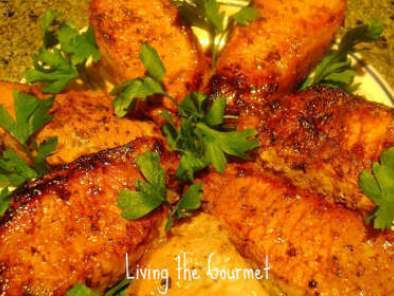 Recipe Honey & mustard marinated pork chops