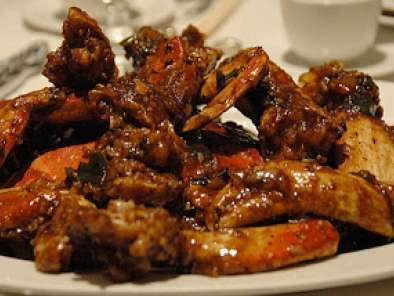 Recipe Chinese dish : stir fried crabs in black bean sauce