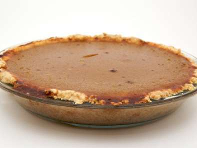 Recipe Roasted pumpkin pie with an easy no-roll pie crust