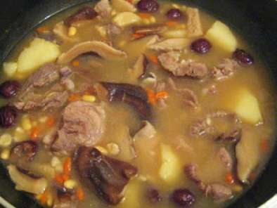 Recipe Chinese herbal pork and mushroom soup