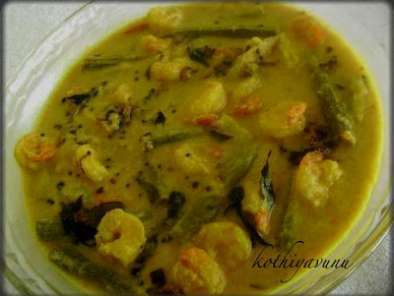 Recipe Chemmeen muringakka curry / prawn drumstick curry