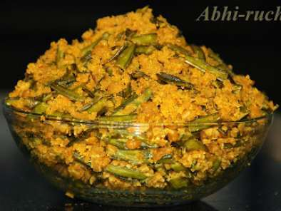 Recipe Chavalikaayi maatvadi palya/guar or cluster beans dry curry