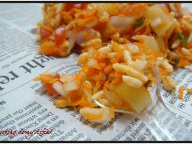 Recipe Maramaralu/moori mixture/bhel puri - puffed rice in assorted vegetables