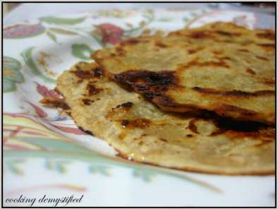 Recipe Sweet chapati err ..indian flat bread with jaggery