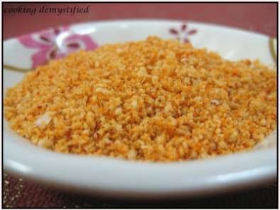 Recipe Nuvvula podi - roasted sesame and chilli powder