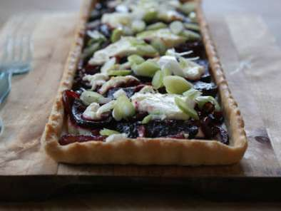 Recipe Beetroot and goat's cheese tart