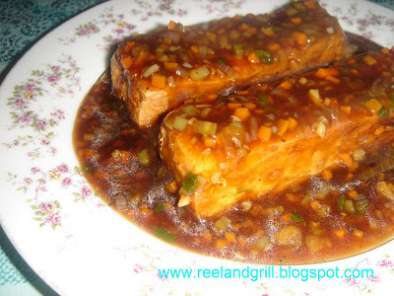 Recipe Sizzling tofu in oyster sauce