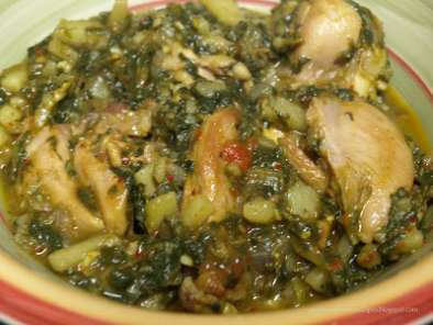 Recipe Aloo-palak-chicken