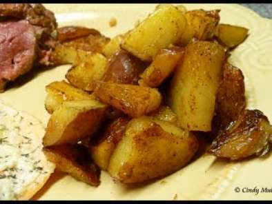 Recipe Pan fried potatoes with a cajun flair