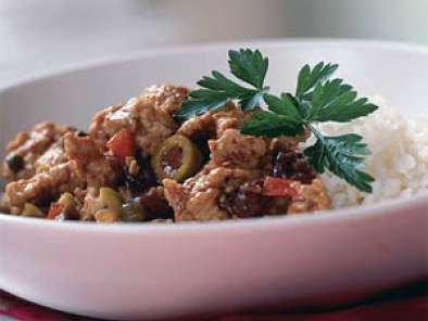 Recipe Cuban food! spicy sweet cinnamon laced picadillo & traditional cuban black beans