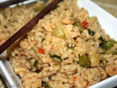 Recipe Seafood stir fried rice