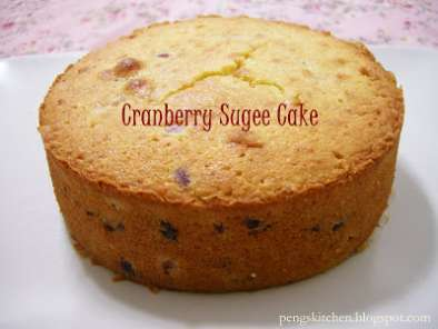 Recipe Cranberry sugee cake