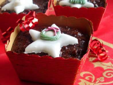 Recipe Mini chocolate cranberry christmas cakes