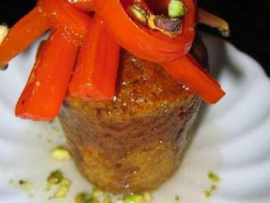 Recipe Spiced carrot baba au rhum with candied carrots and pistachios