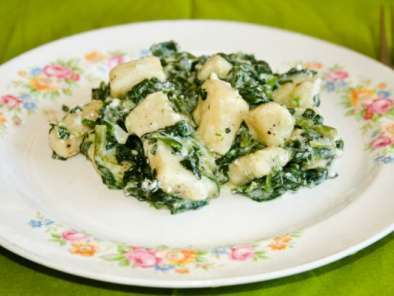 Recipe Gnocchi with spinach and feta cheese