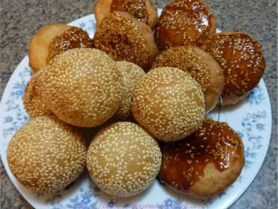 Recipe Fried glutinous rice balls (banh cam & banh ran)