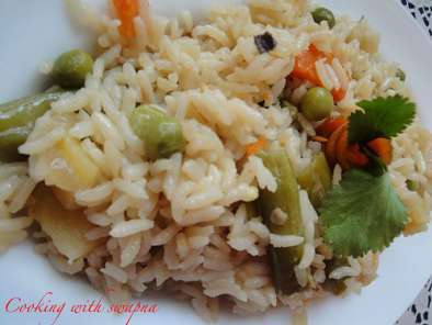 Recipe Vegetable pulav in coconut milk