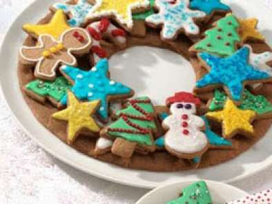 Recipe Christmas gingerbread cookie wreath