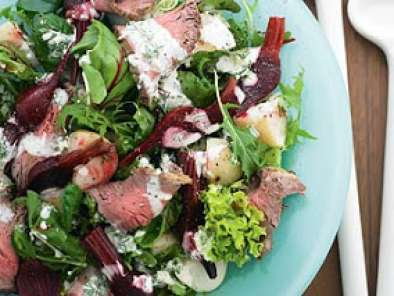 Recipe Christmas beef and beet salad recipe