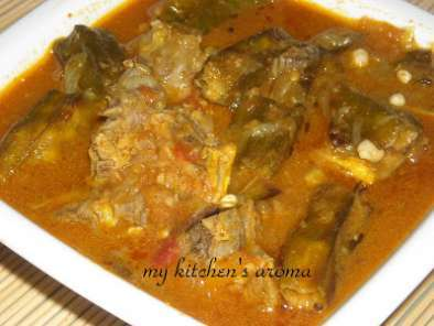 Recipe Bendakaya mamsam / lady finger mutton curry