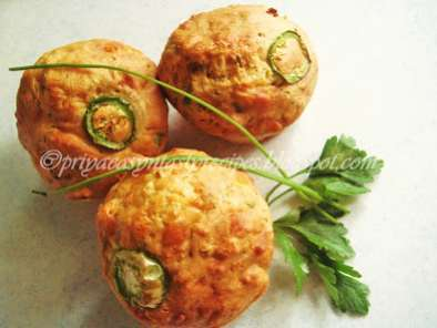 Recipe Eggless savoury cheese corn muffins