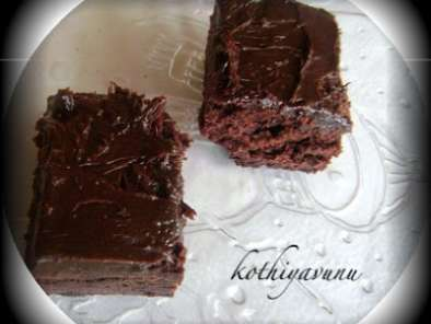 Recipe Brownies with creamy brownie frosting