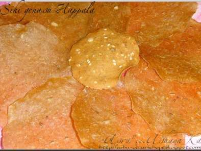 Recipe Sun dried sweet potato rounds (genasina happala, shakkarkhand papad)