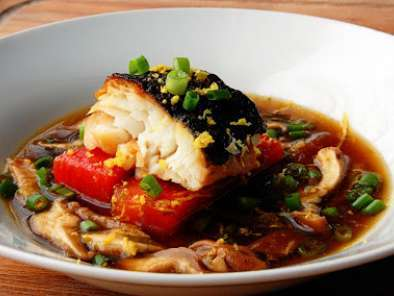 Recipe Dashi with miso cured cod