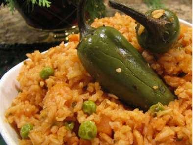 Recipe Mexican red rice (arroz rojo) and pot beans (frijoles mexicanos)