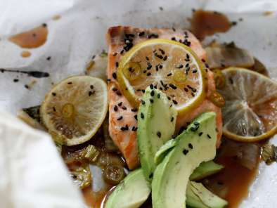 Recipe Sesame lime salmon & bok choy