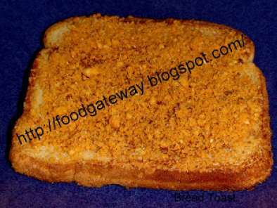Recipe Bread toast with groundnut chutney pudi