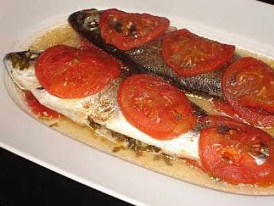 Recipe Greek sea bass (lavraki)