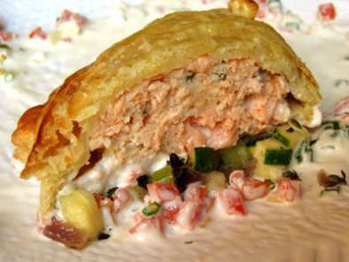 Recipe Creating salmon loaf en croûte one chef at a time
