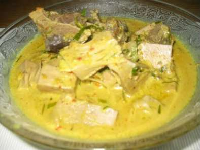 Recipe Opor nangka muda (jackfruit in hot & spicy coconut gravy)