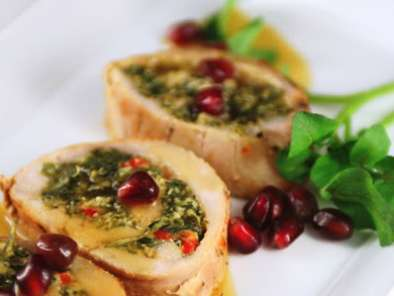 Recipe Roast pork florentine with pomegranate sauce