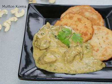 Recipe Mutton korma/kuruma (a mild and creamy mutton curry)