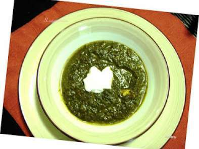 Recipe Palak paneer (spinach and cottage cheese curry)