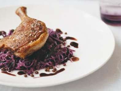 Recipe Duck with lentils and red cabbage