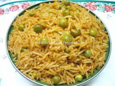 Recipe Chat phat peas pulao