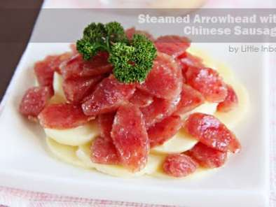 Recipe Steamed arrowhead with chinese sausage