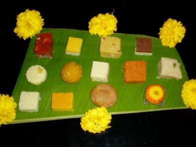 Recipe Sweets for holi - laddu, barfi, milk cake & peda roll ......