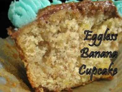 Recipe Eggless banana cupcakes